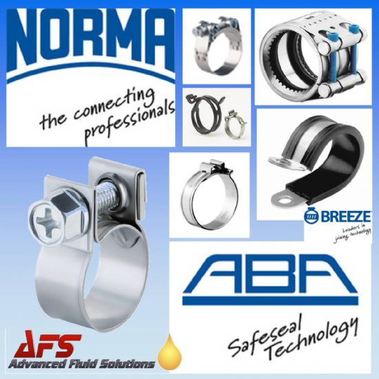Norma Hose Clips & Clamps (ABA, Cobra, Spring, GBS)